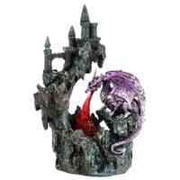 Fire Breather Cliff Top Castle LED Dark Legends Dragon Figurine
